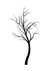 bare  tree branch silhouette vector symbol icon design. Beautiful illustration isolated on white background