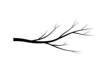 bare branch tree silhouette vector symbol icon design. Beautiful illustration isolated on white background