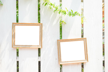 photo frame on the fences