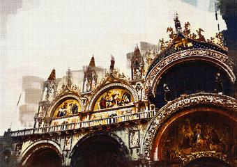 Venice art illustration - oil painting