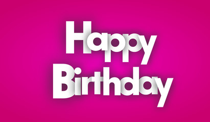 happy birthday letters vector word banner sign
