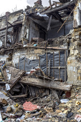 Odessa, Ukraine - December 20, 2014: the ruins of the old histor