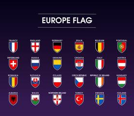 europe flag icon set 1