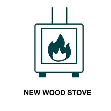 new wood stove icon