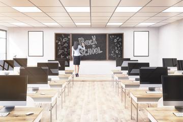 Woman teacher in class