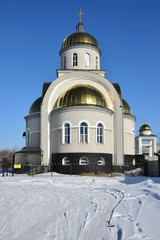 Uniat church in AStana, capital of Kazakhstan, in winter