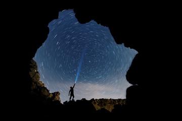 gökyüzü yıldızları ve meteor yağmuru
