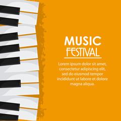 piano music sound media festival icon. Grunge and Colorfull illustration. Vector graphic