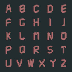 A set of letters , vector illustration.