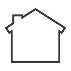 house home silhouette isolated icon