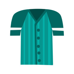 flat design baseball shirt icon vector illustration