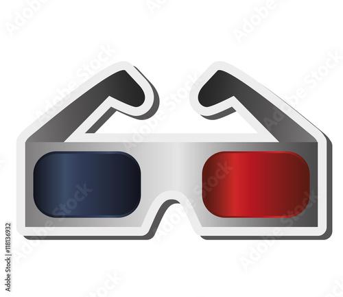 Flat 3d Glasses : Quot flat design d glasses icon vector illustration immagini