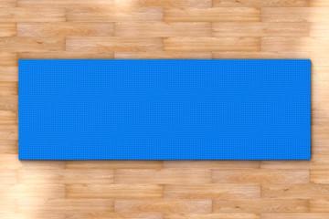 yoga mat top view