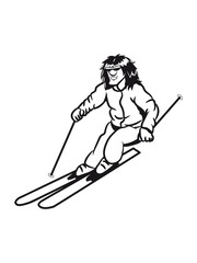 Winter holiday ski sport