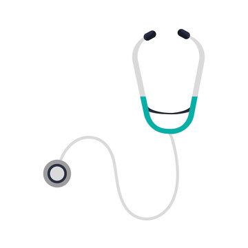 flat design single stethoscope icon vector illustration
