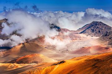 Haleakala Volcano on  Maui island in Hawaii
