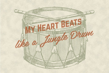 Retro Vintage Overlay Poster with Drum