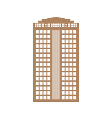 Building tower silhouette apartment icon. Isolated and flat illustration
