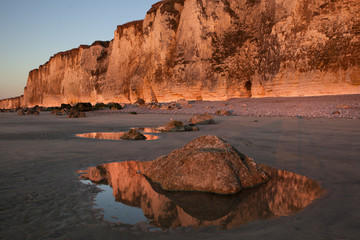 Cliff reflections in Normanyd France