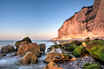 Coastal cliffs of Normandy