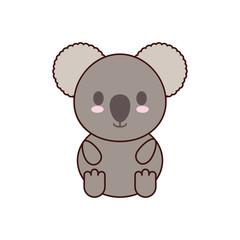 koala kawaii cute animal little icon. Isolated and flat illustration