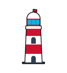 lighthouse sea lifestyle nautical icon. Isolated and flat illustration