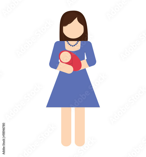 """Baby Avatar 2: """"woman Female Baby Mother Avatar Person People Icon"""