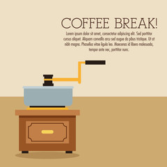 coffee greinder break shop store icon. Colorfull illustration. Vector graphic
