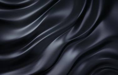 Schwarzer Seidenstoff