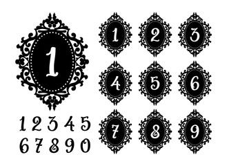 Laser cutting numbers template for the festive table.
