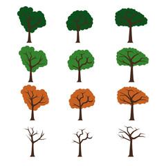 Three four season trees