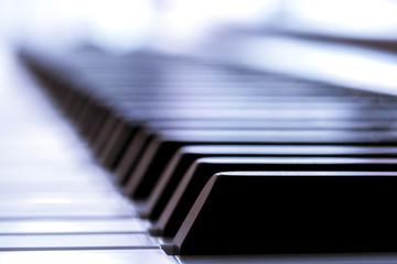 Close-up macro of a piano key