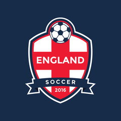 England soccer flag color badge .Vector
