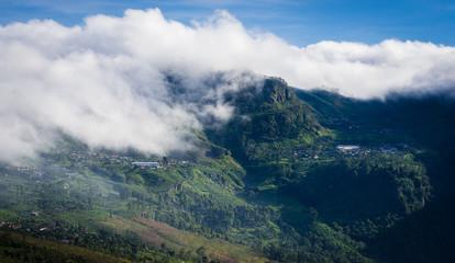 Dambatenne Tea Factory covered in Clouds - Haputale-Dambethanna Rd, Sri Lanka
