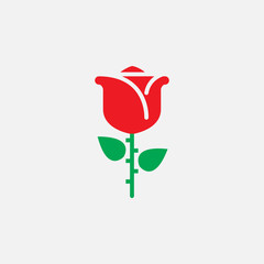 rose icon vector, solid logo illustration, colorful pictogram isolated on white