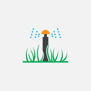 automatic sprinkler icon vector, solid logo illustration, colorful pictogram isolated on white