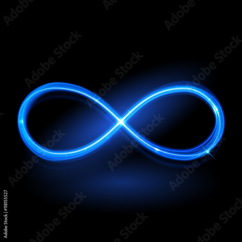 """ector Magic Glowing Light Infinity Sign"" Stock Image And"