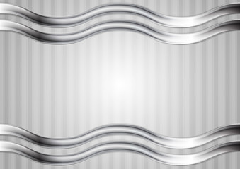Minimal abstract technology wavy metallic background