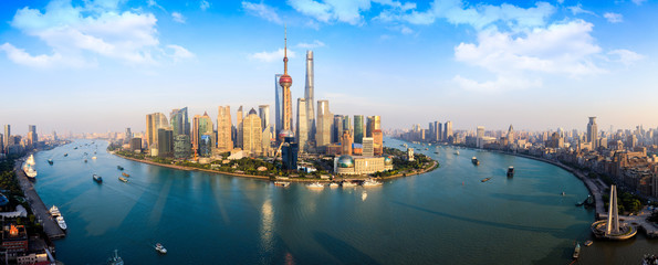Foto op Aluminium Shanghai Panorama Shanghai skyline, Shanghai China