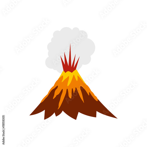 "Volcano Symbol ""Eruption of volc..."