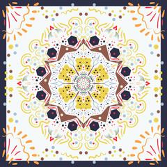 Seamless texture Moroccan tiles. Vector