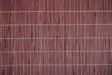 Close up brown bamboo mat background