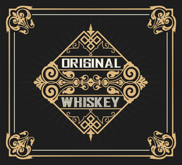 Art-deco Whiskey label