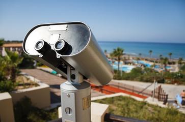 Binocular at summer resort