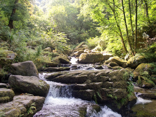Sunlight Waterfall