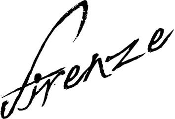 Firenze text sign