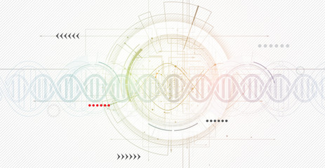 DNA Abstract science and element collection. Futuristic technology for business
