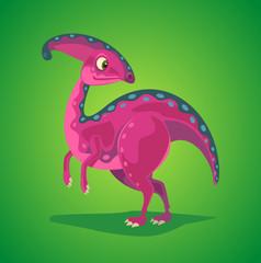 Dinosaur cartoon character. Vector flat cartoon illustration