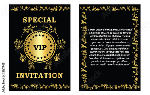 Golden Vip Invitation Card Template A Golden Vip Invitation
