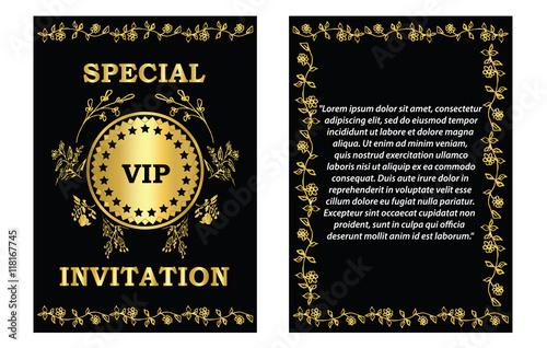 Golden Vip Invitation Card Template A Golden Vip Invitation Card